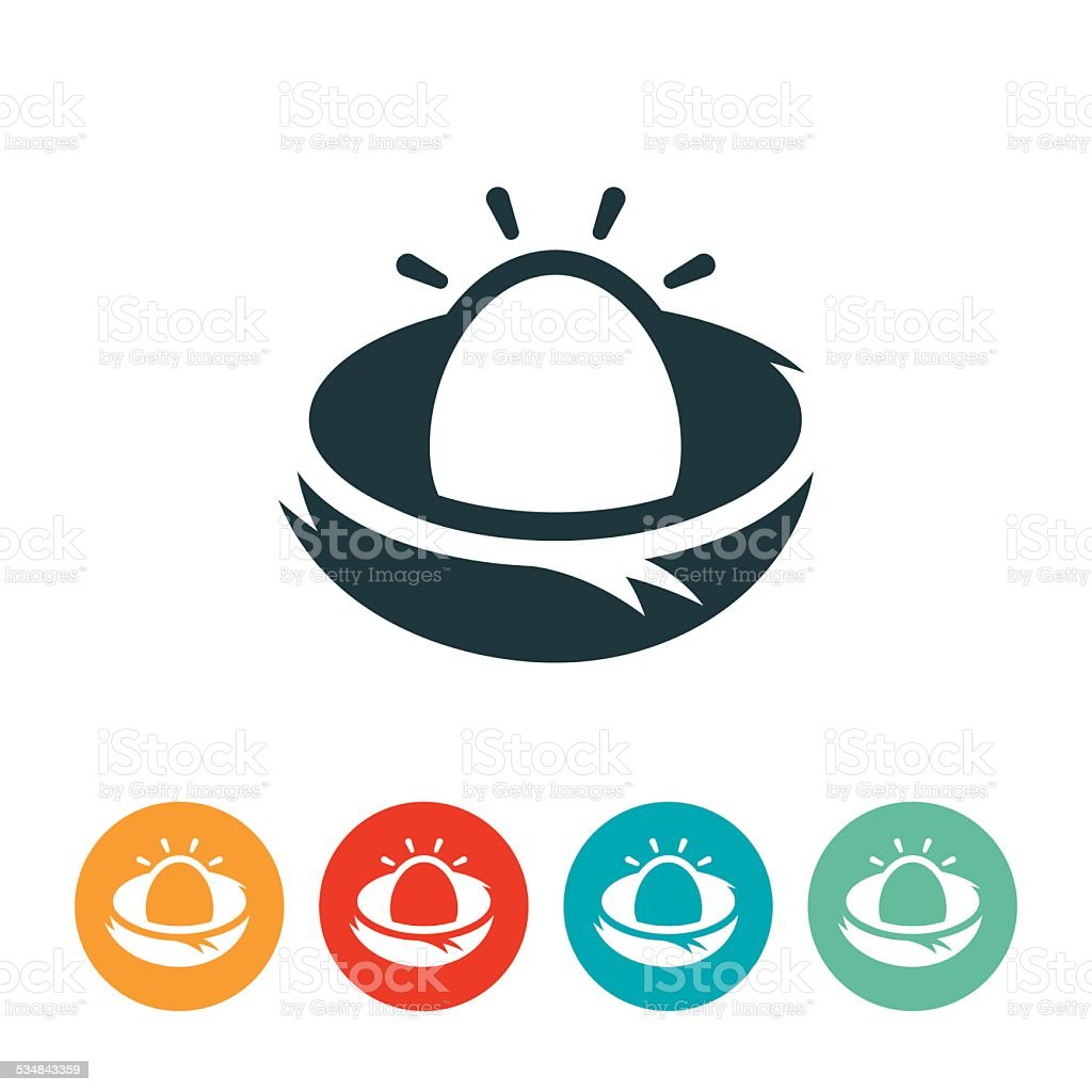 Nest Egg Icon vector art illustration