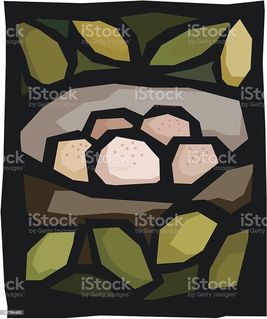 Nest Eggs royalty-free stock vector art