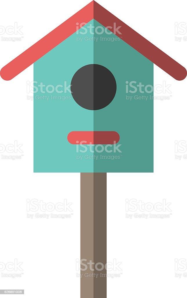 Nesting box or birdhouse vector art illustration