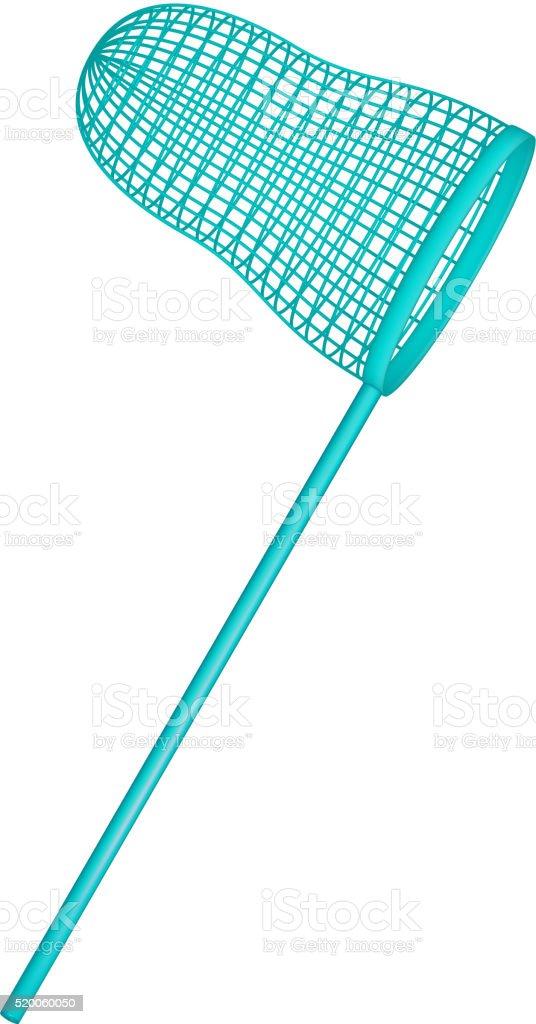 Net in turquoise design vector art illustration