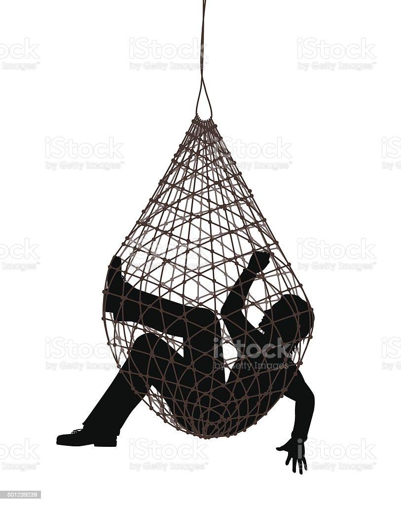 Net trap vector art illustration