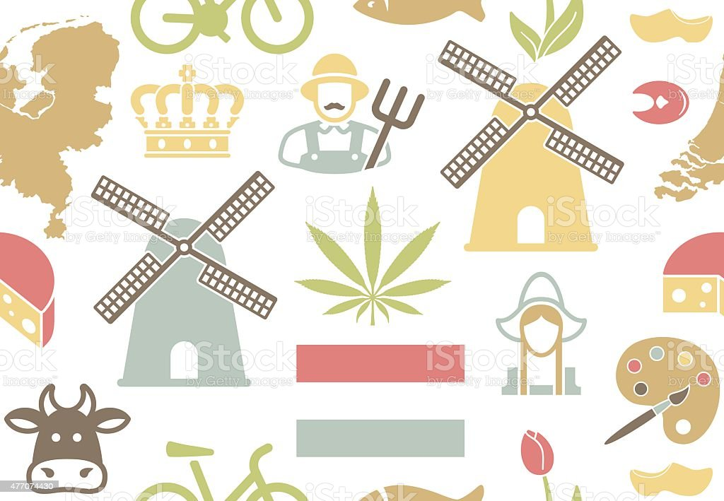 Netherlands background vector art illustration