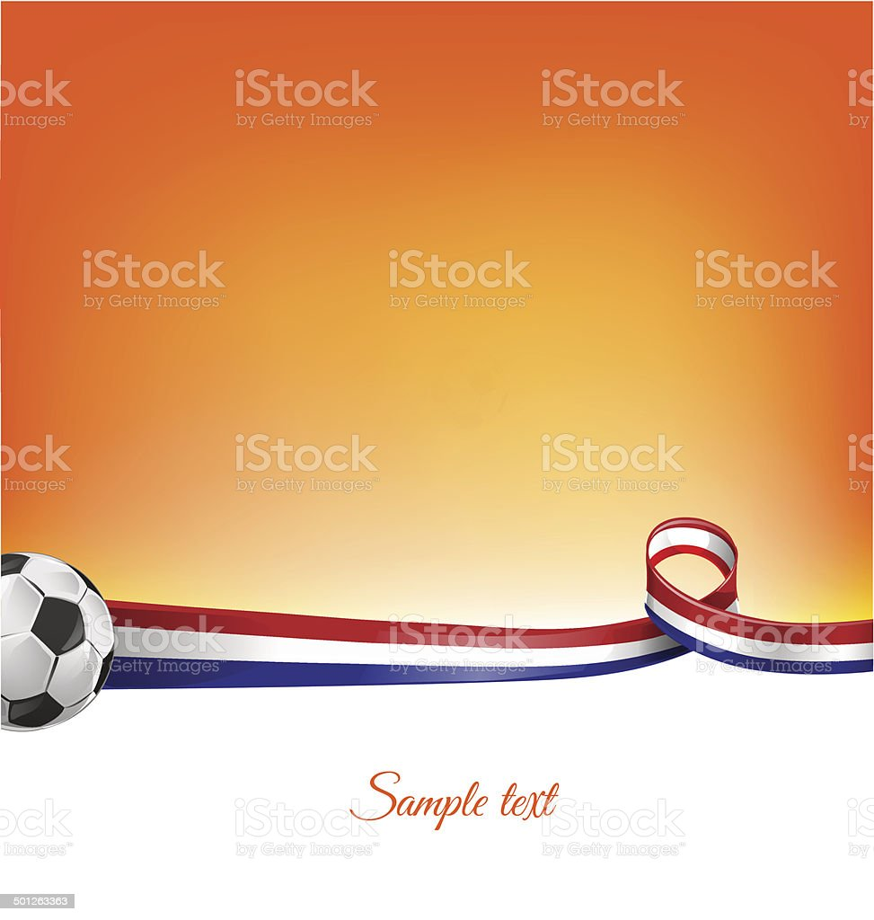 netherlands background with soccer ball vector art illustration