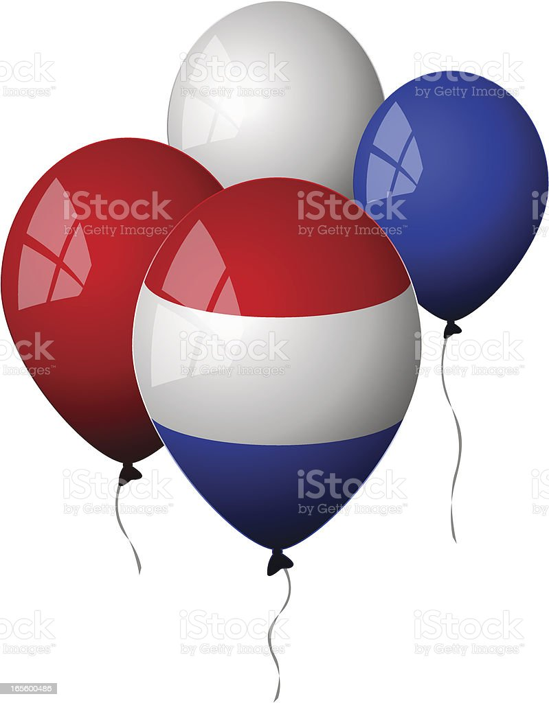 Netherlands - Balloons royalty-free stock vector art