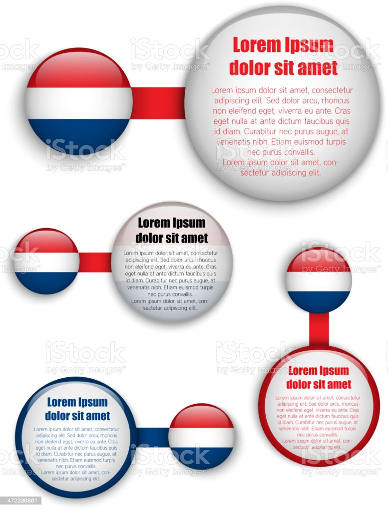 Netherlands Country Set of Banners royalty-free stock vector art