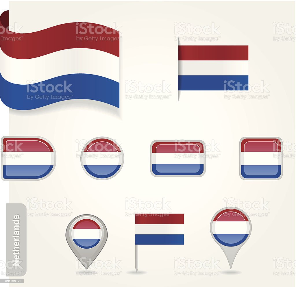 Netherlands flag icon royalty-free stock vector art
