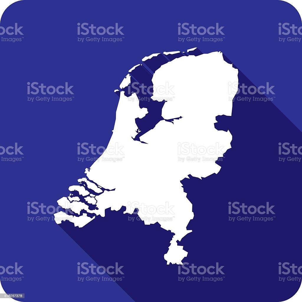Netherlands Icon Silhouette vector art illustration