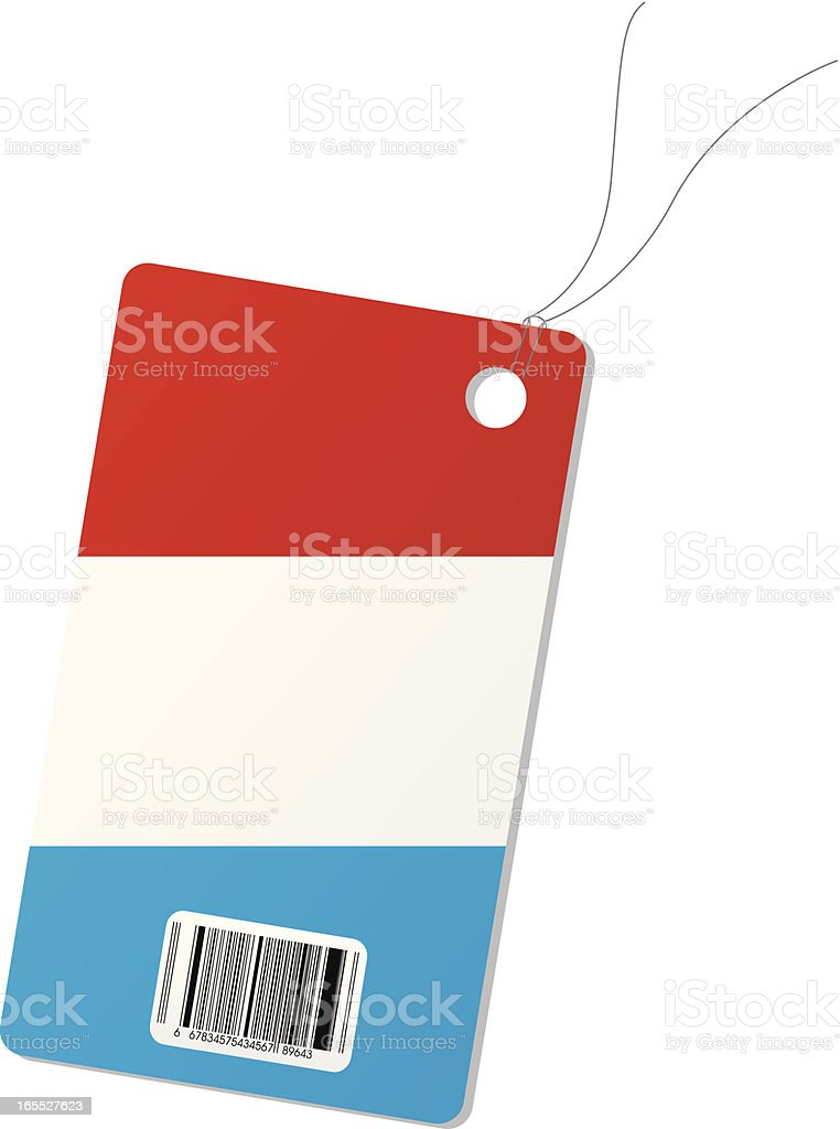 Netherlands price tag royalty-free stock vector art