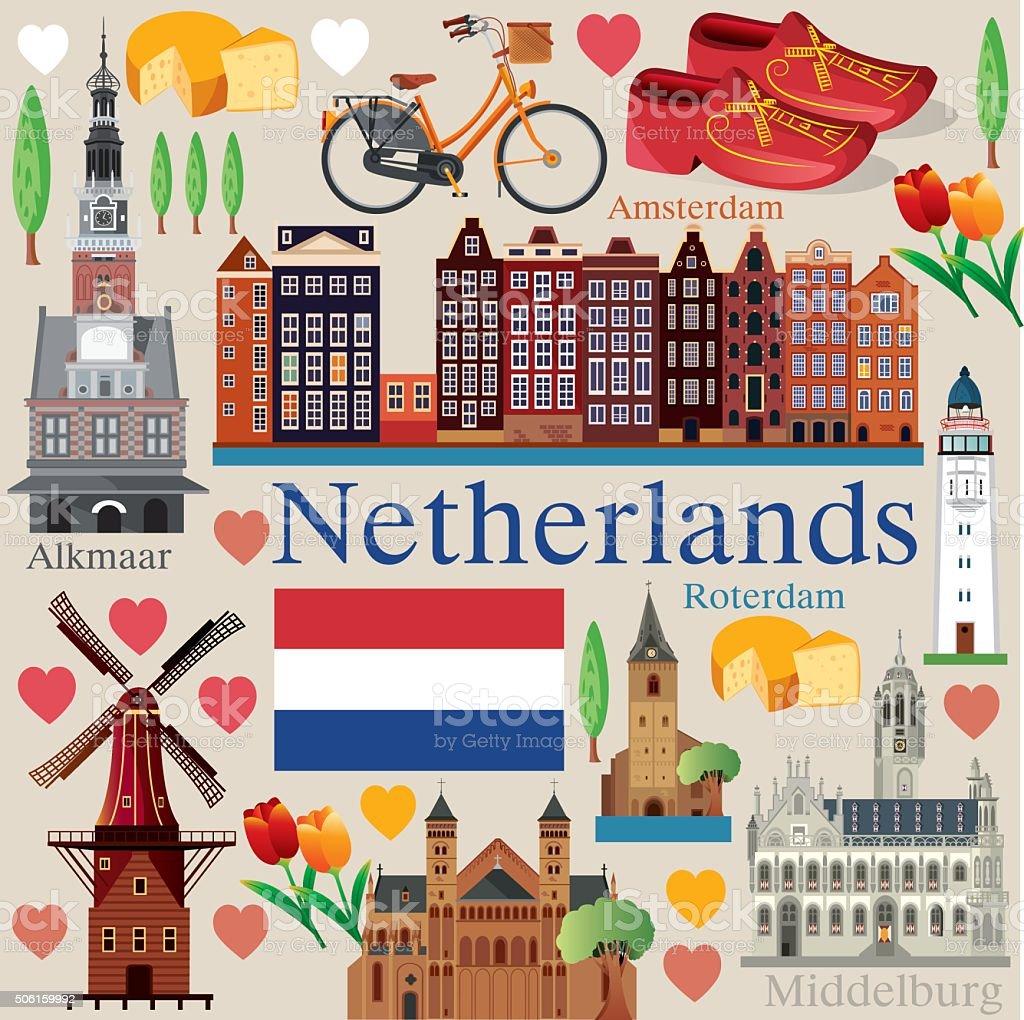 Netherlands vector art illustration