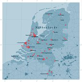 Netherlands Vector Road Map