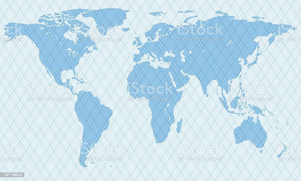 Netlike map royalty-free stock vector art