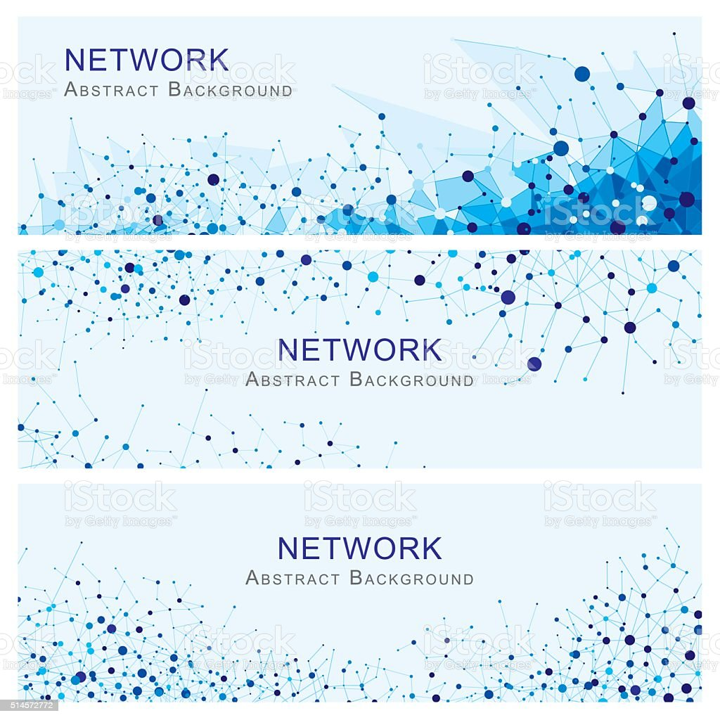 Network Abstract Banners vector art illustration