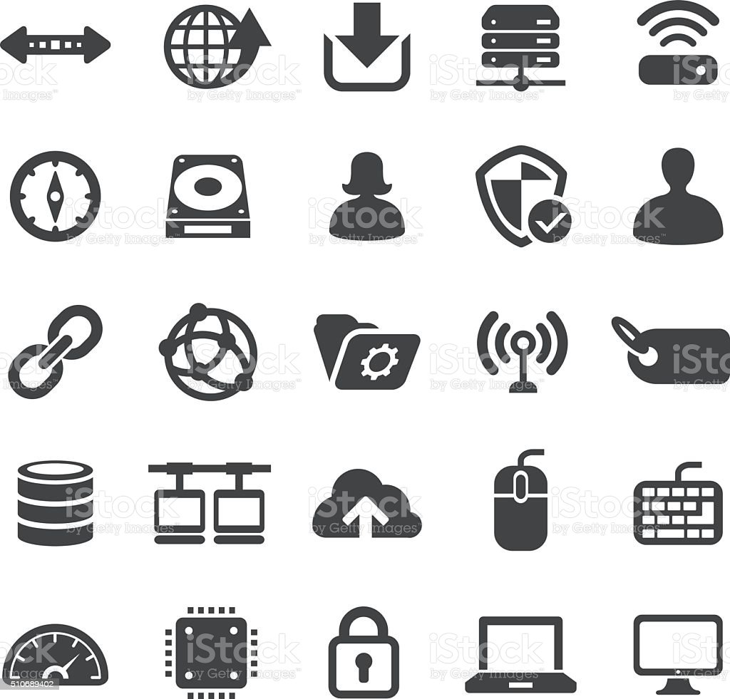 Network and Computers Icons Set - Smart Series vector art illustration
