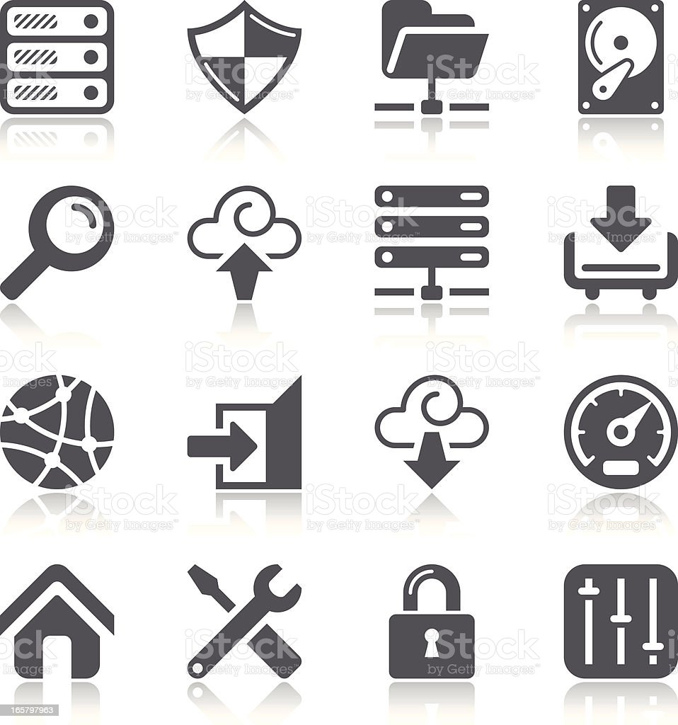 Network and Hosting Icons royalty-free stock vector art