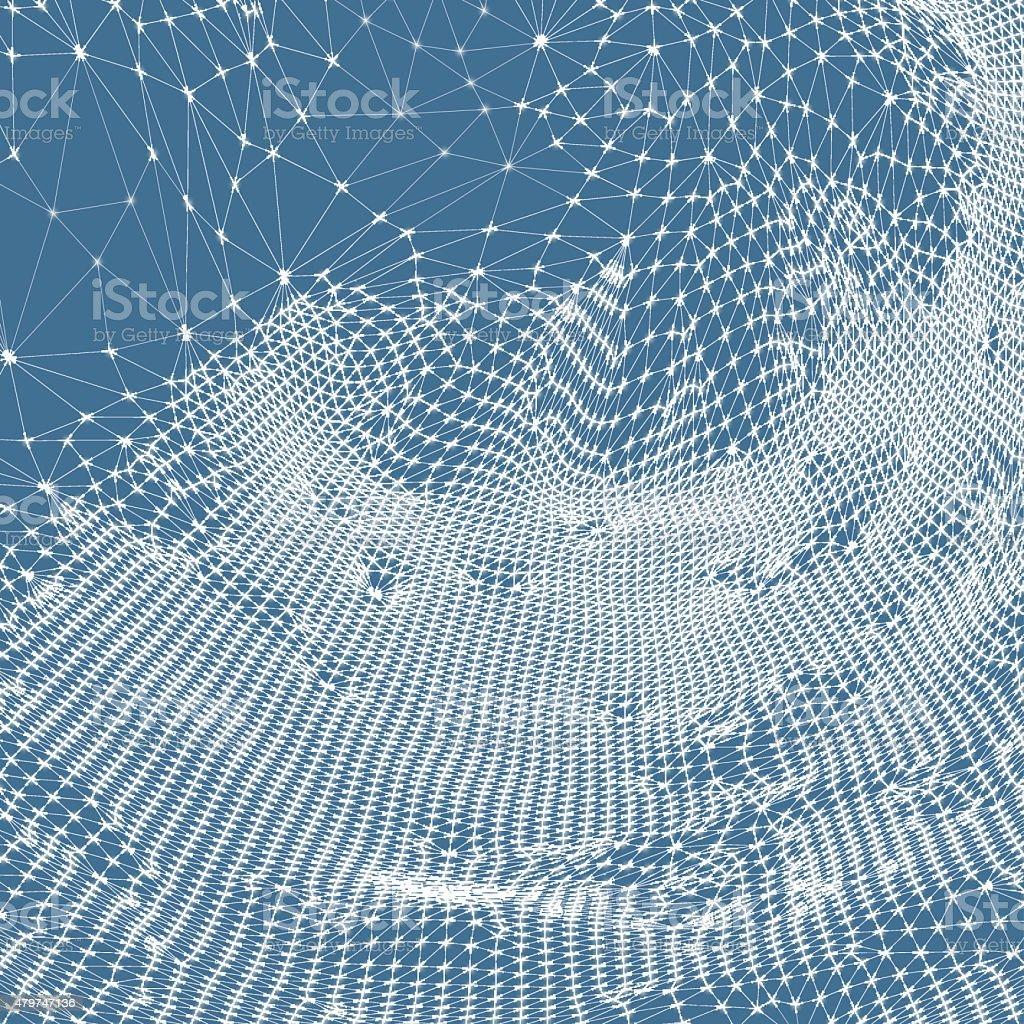 Network background. 3d technology vector illustration. vector art illustration