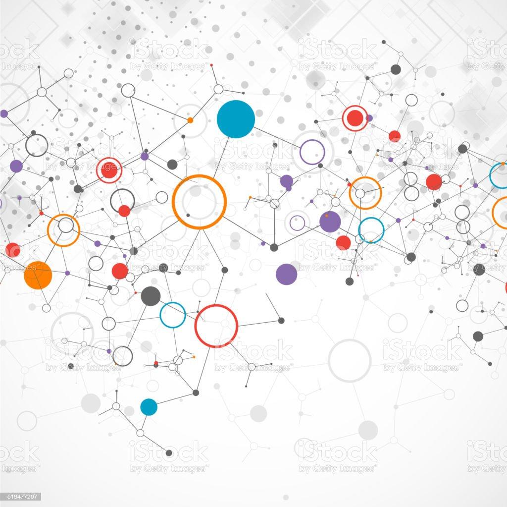 Network color technology communication background vector art illustration