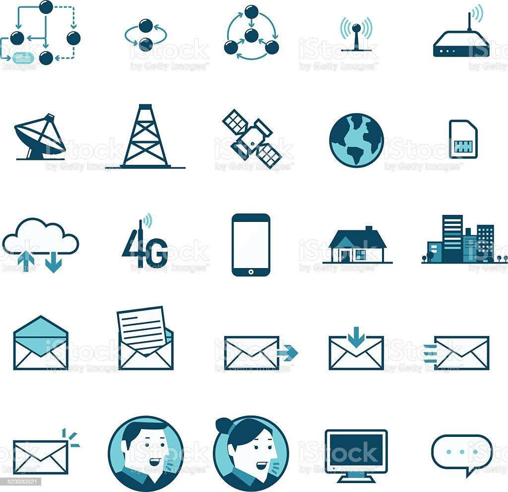 Network Communication vector art illustration