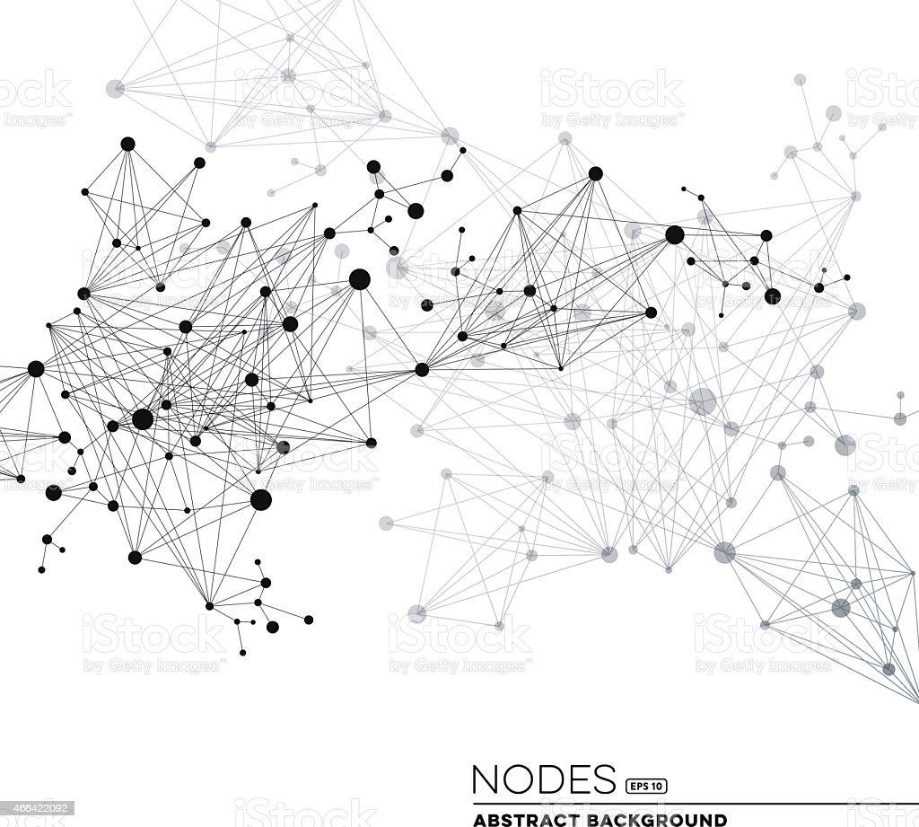 Network Connection Nodes vector art illustration