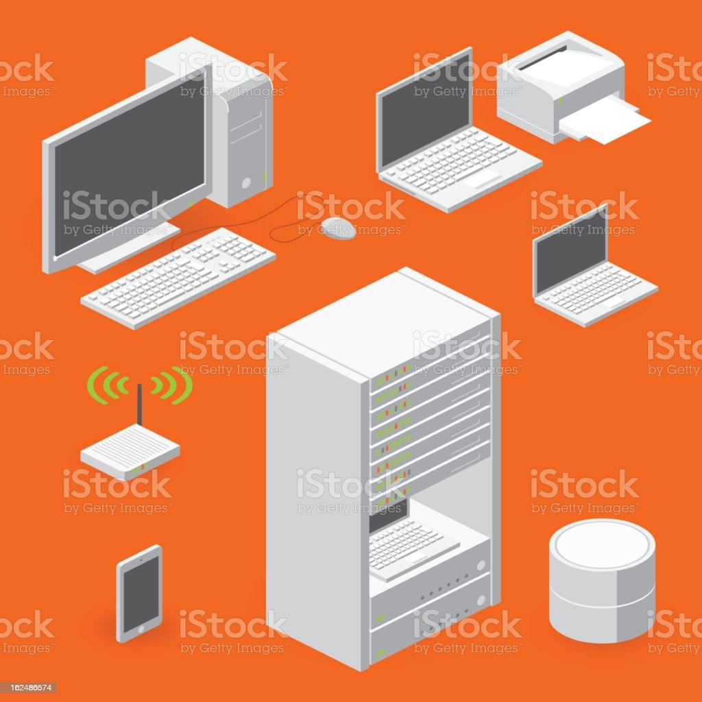 network elements royalty-free stock vector art