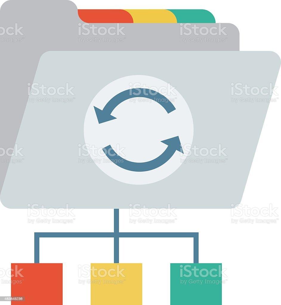 Network Folder Vector Illustration vector art illustration