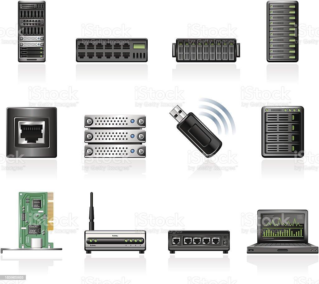 Network Hardware vector art illustration