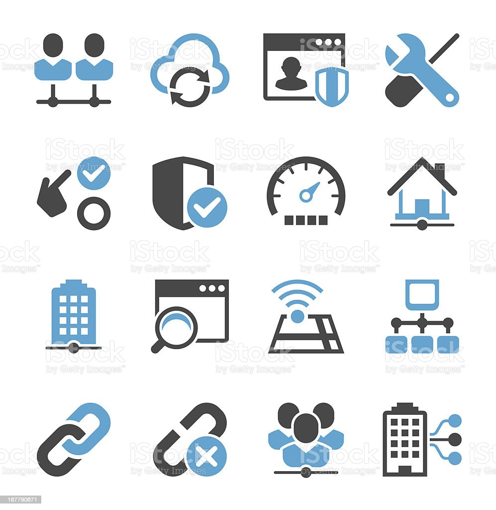 Network Icon Set | Concise Series vector art illustration