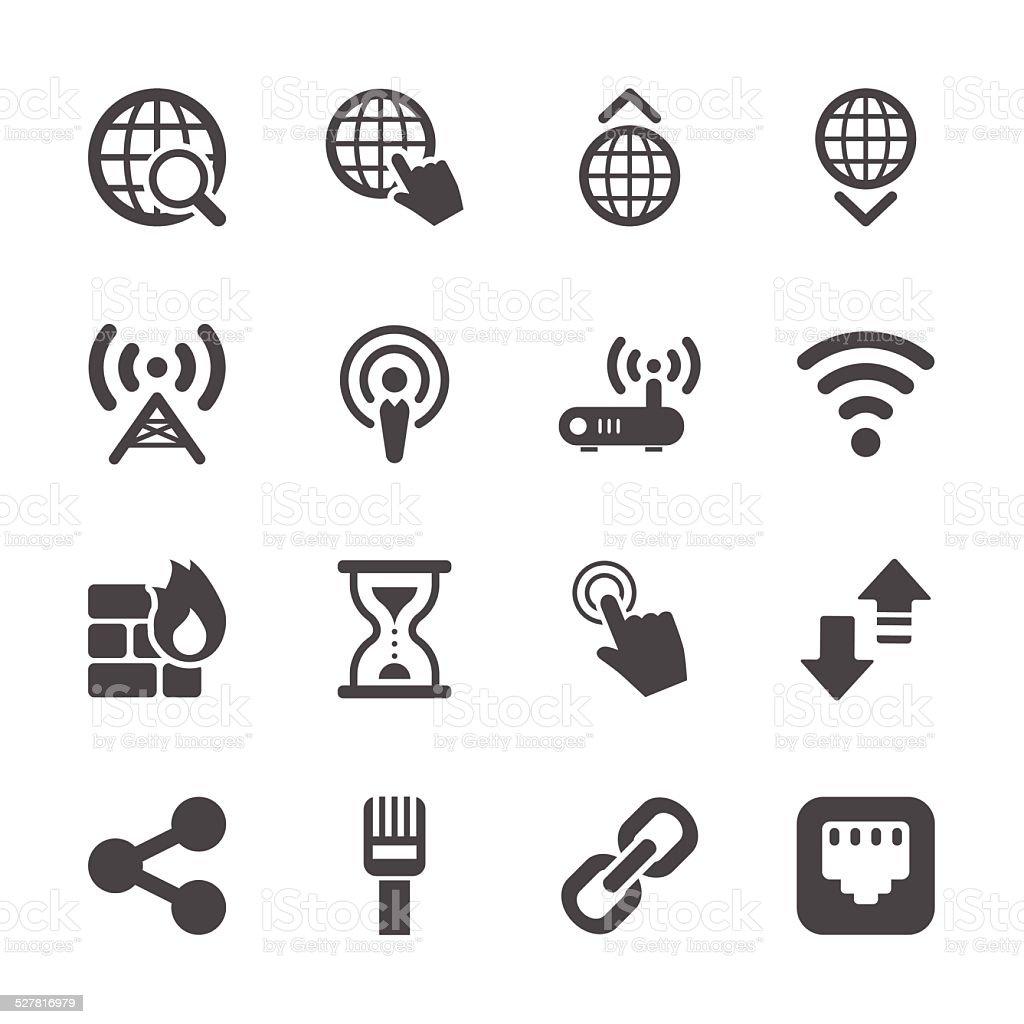 network icon set, vector eps10 vector art illustration
