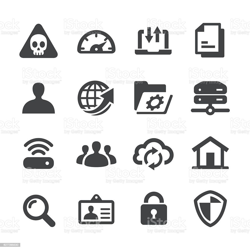Network Icons - Acme Series vector art illustration