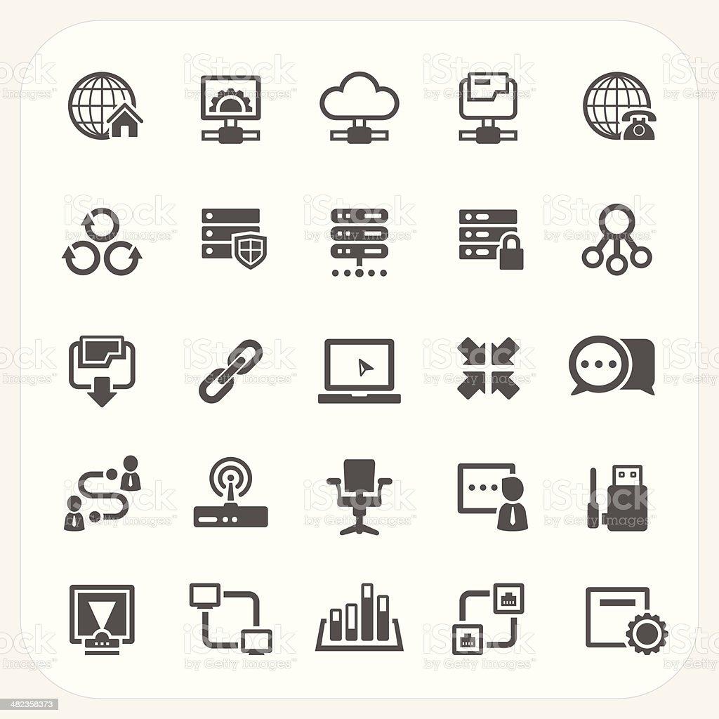 Network icons set vector art illustration
