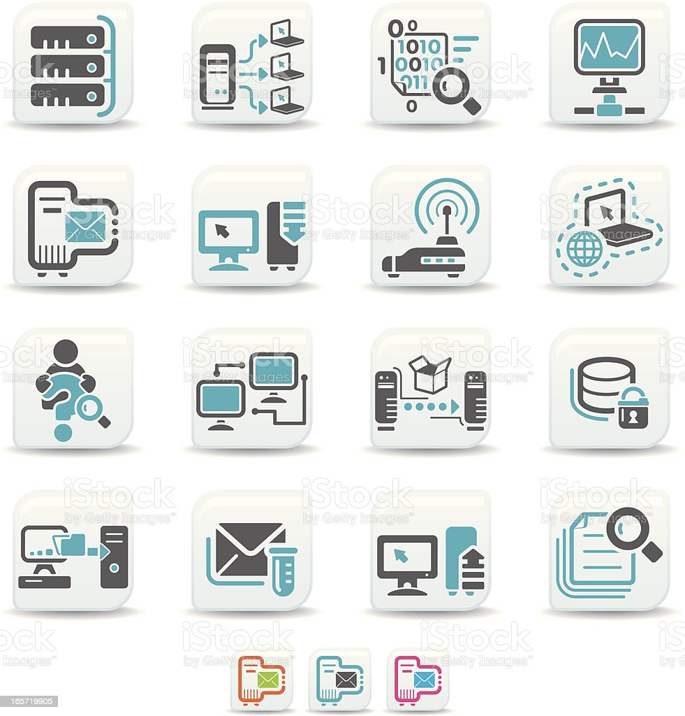 network icons | simicoso collection vector art illustration