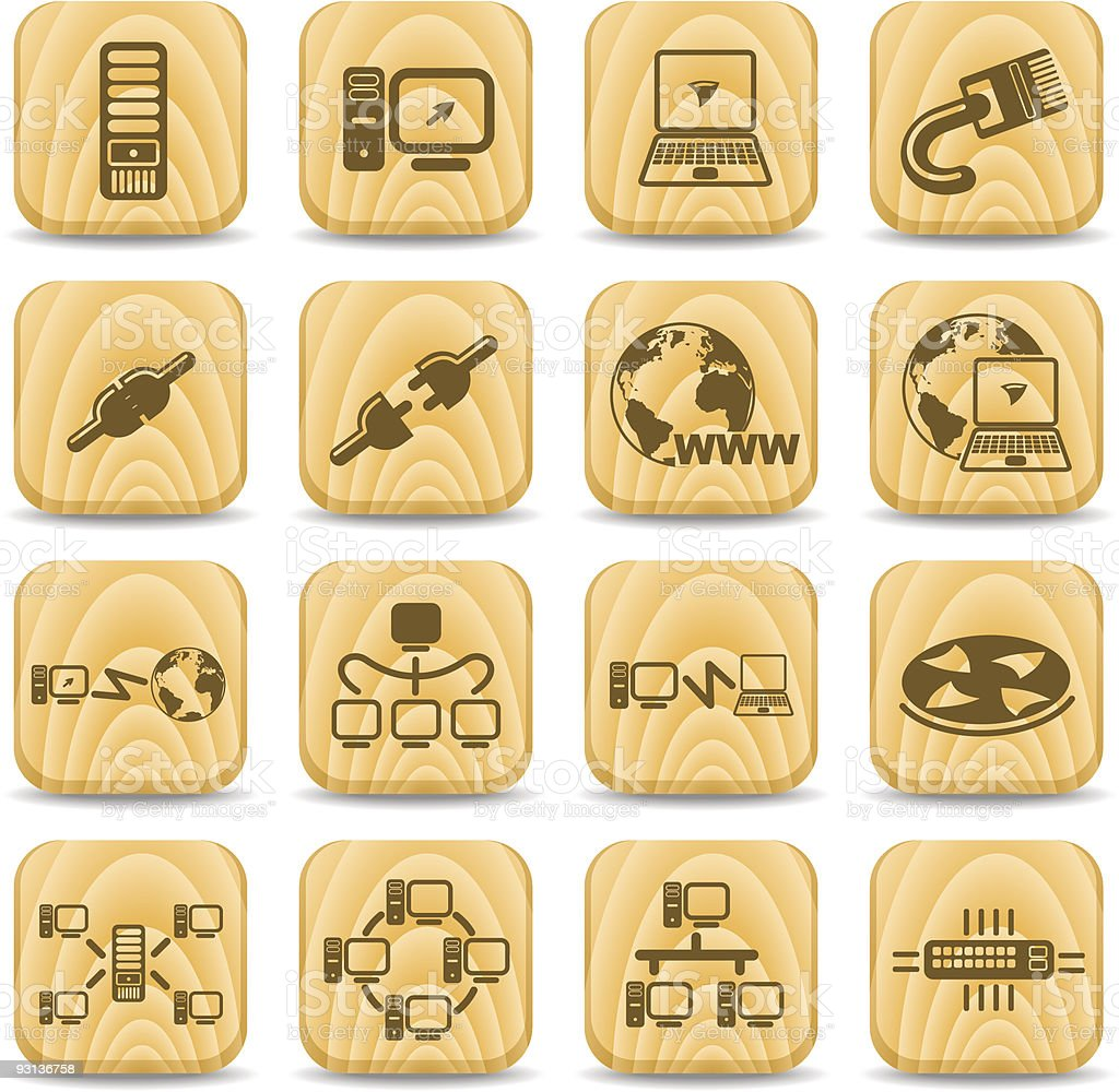 Network icons royalty-free stock vector art