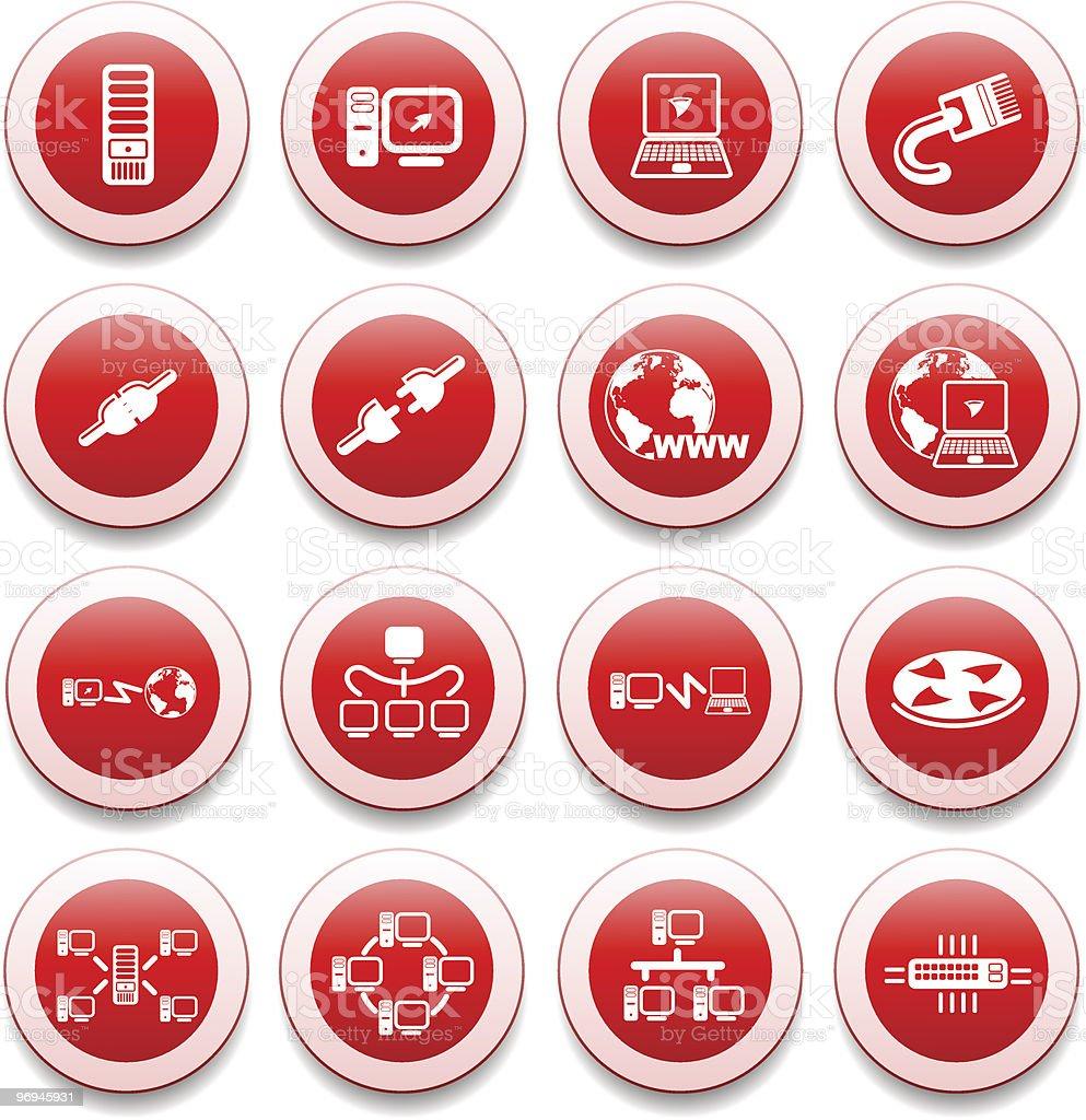 Network icons vector art illustration