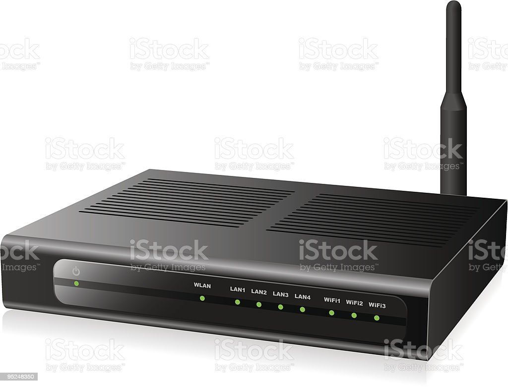 Network router royalty-free stock vector art