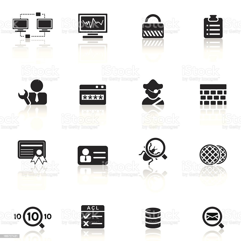 Network Security and Monitor | Simple Collection vector art illustration