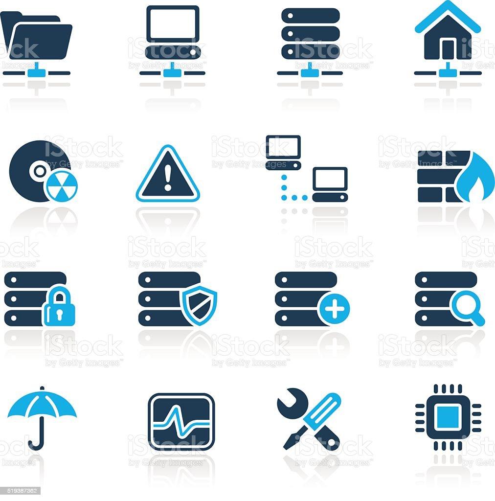 Network, Server & Hosting Icons // Azure Series vector art illustration