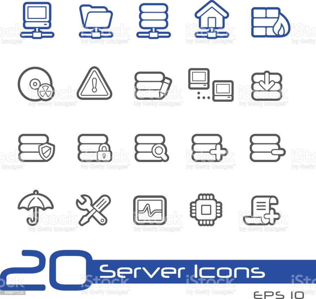 Network & Server Icons - Line Series vector art illustration