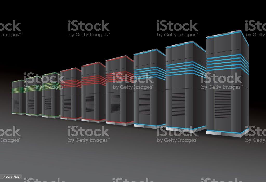 Network Server vector art illustration