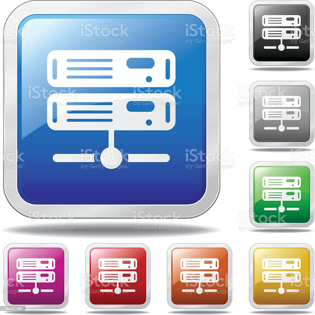 Network Servers royalty-free stock vector art