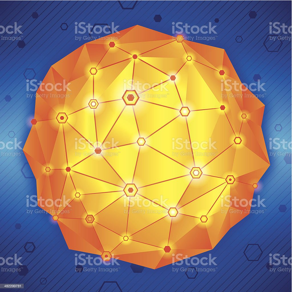 Network Sphere - concept royalty-free stock vector art