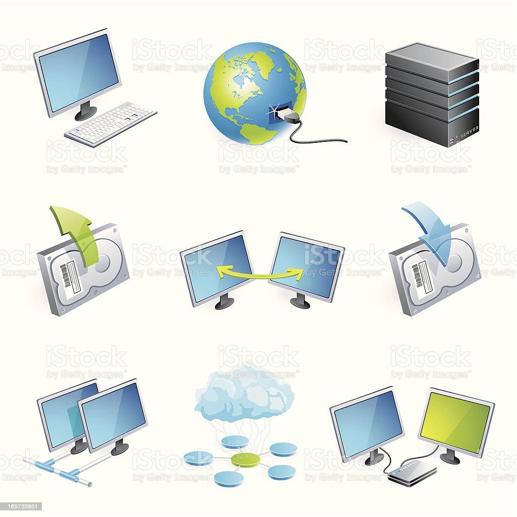 Network technology - 3D series royalty-free stock vector art