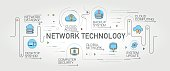 Network Technology banner and icons