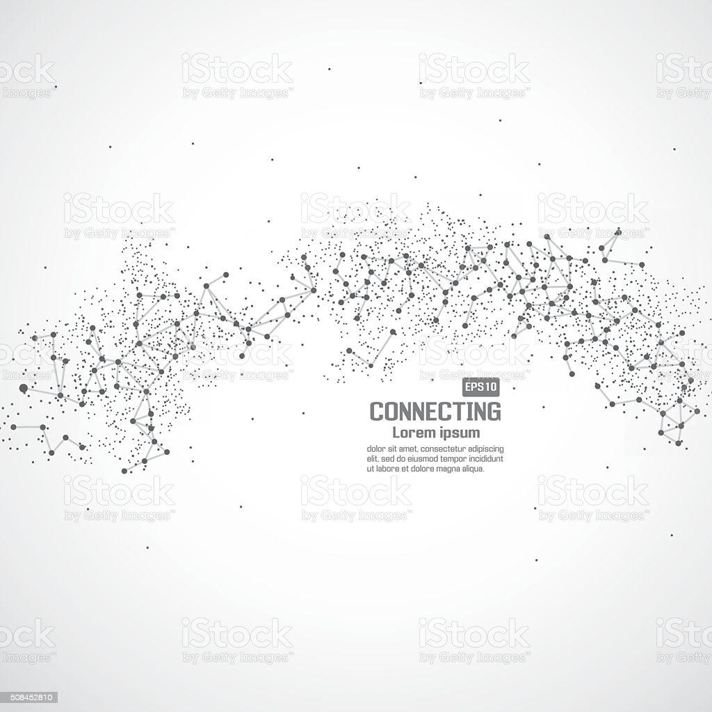 Network technology communication background vector art illustration