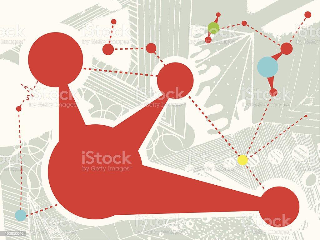 network vector art illustration