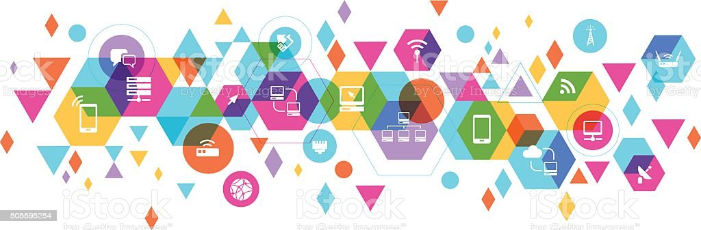 Networking based design vector art illustration