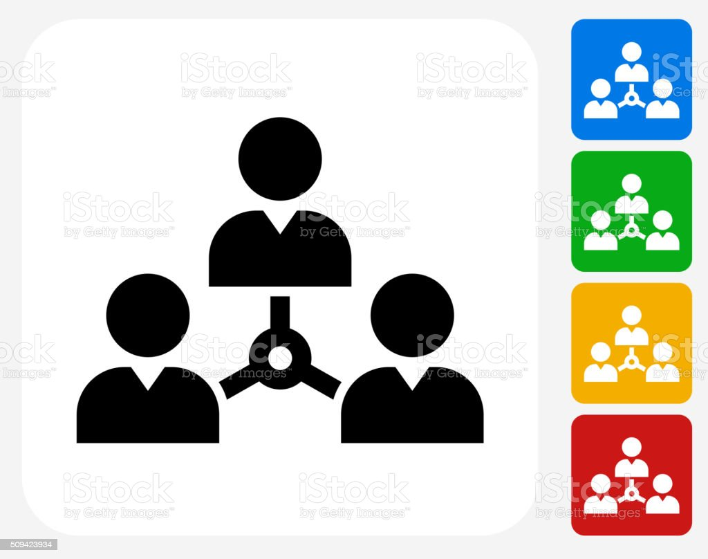 Networking Icon Flat Graphic Design vector art illustration
