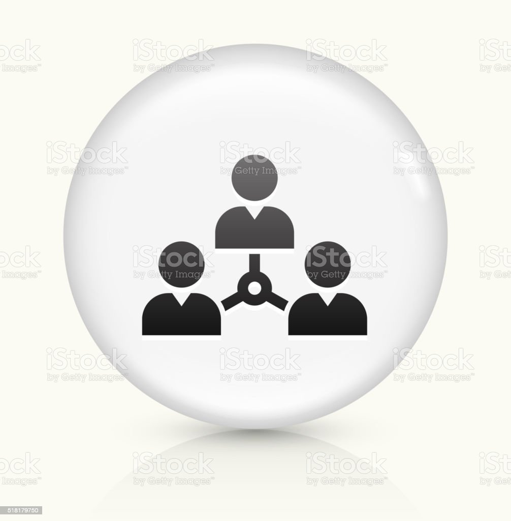 Networking icon on white round vector button vector art illustration