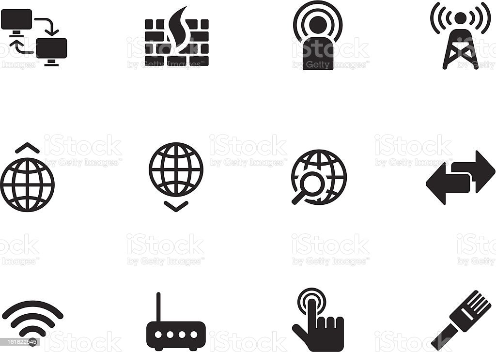 Networking icons royalty-free stock vector art
