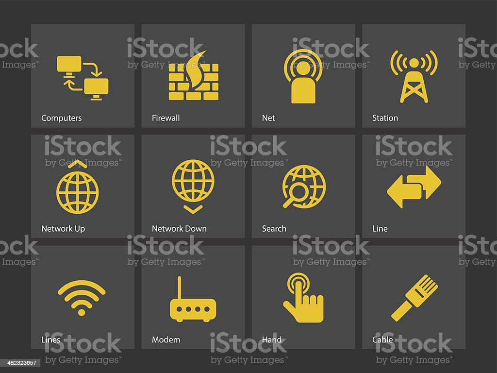 Networking icons. royalty-free stock vector art