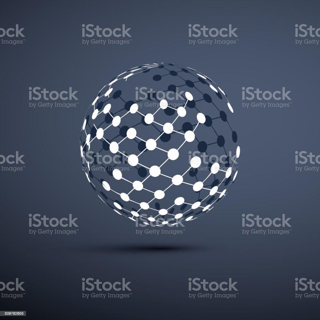 Networks - Globe Design vector art illustration