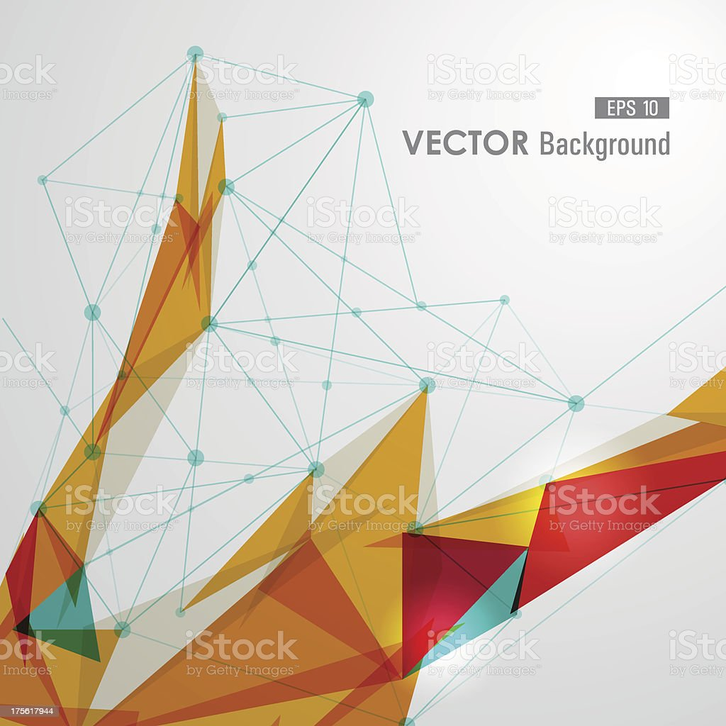 Networks triangle background vector art illustration